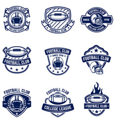american football emblems design element for logo vector image