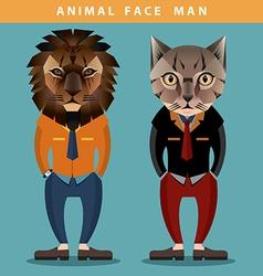 Animal Face Man vector image