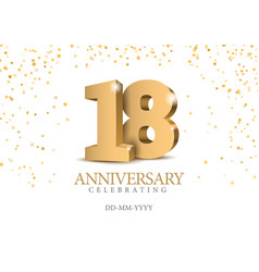 anniversary 90 gold 3d numbers vector image