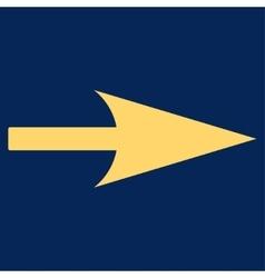 Arrow Axis X flat yellow color icon vector