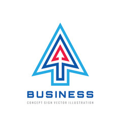 arrows - business logo template design strategy vector image