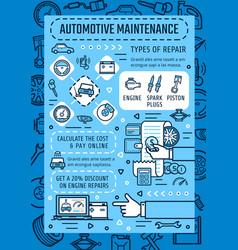 Auto service center online automotive maintenance vector