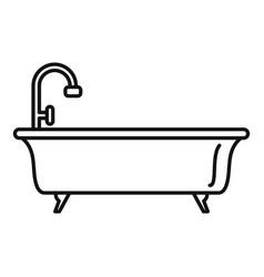 Bathtub icon outline style vector