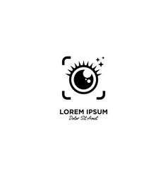 Beauty camera logo icon vector