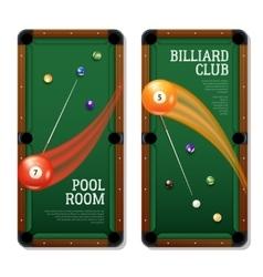 Billiards Banners Set vector