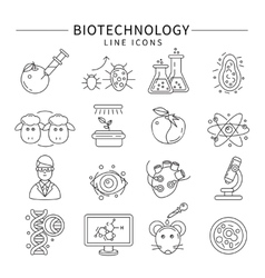 Biotechnology Icon Set vector image