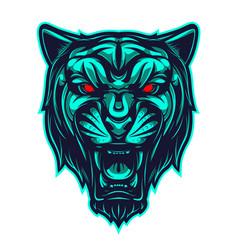 black panther sport mascot logo vector image
