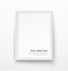 Blank white picture frame vector image