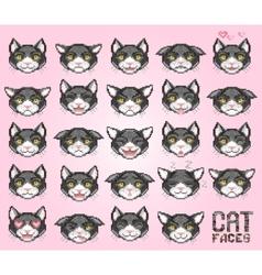 cat emoticon vector image