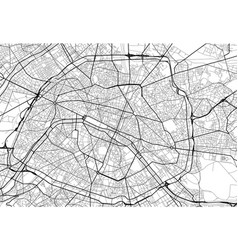 City map of paris in black and white vector