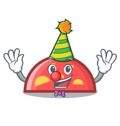 clown semicircle mascot cartoon style vector image