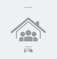 Cohabitation concept - web icon vector