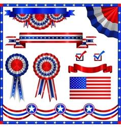Collection usa patriotic emblems vector