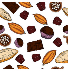 color chocolate pattern vector image