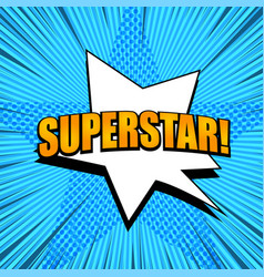 Comic page superstar template vector