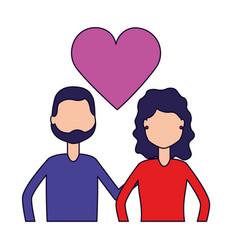 Couple relation romantic vector