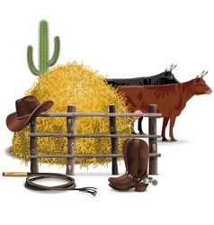 Cowboy Farming Concept vector