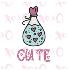 cute card cartoon vector image