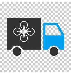 Drone Delivery Van Eps Icon vector