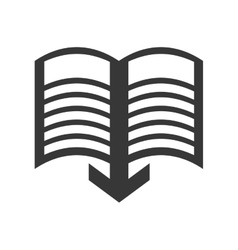 E-Book icon Reading and learning online design vector image