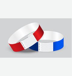Empty paper or tyvek bracelet or wristband sticky vector