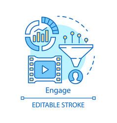 engage concept icon inbound marketing method vector image