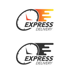 express delivery icon concept watch icon vector image