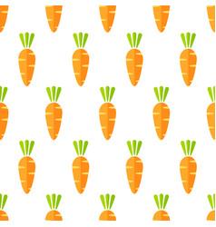 fashion orange carrot vegetable seamless pattern vector image