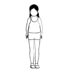 fat woman in sport suit vector image