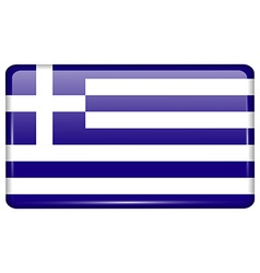 Flags Greece in the form of a magnet on vector