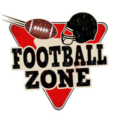 Football zone vintage rusty metal sign vector