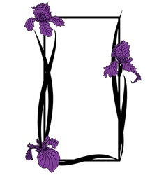 Frame with irises vector