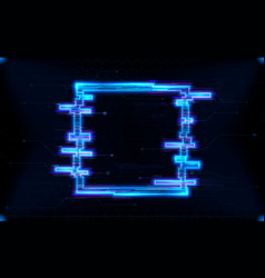 futuristic hologram hud square shape with neon vector image