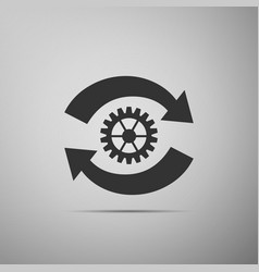 gear and arrows as workflow concept gear reload vector image
