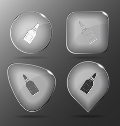 Glue bottle Glass buttons vector image vector image