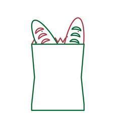 grocey bag icon image vector image