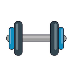 Gym equipment dumbell isolated vector