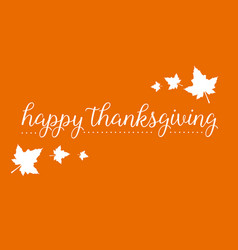 happy thanksgiving greeting card style vector image