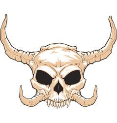 Horned skull 001 vector