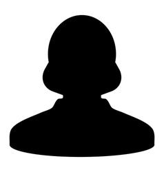 Human Icon Woman User Profile Avatar Glyph vector