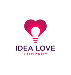 Idea love logo icon vector