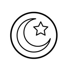 Islamic icon crescent star icon- iconic design vector