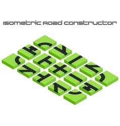 Isometric roads constructor vector image