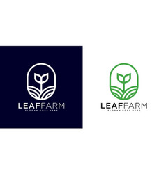 leaf farm logo design vector image