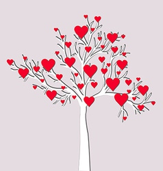 Love tree card vector image