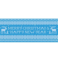 Merry christmas happy new year scandinavian style vector