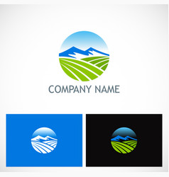 mountain landscape nature company logo vector image