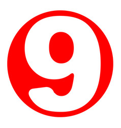 number 9 sign design template element vector image