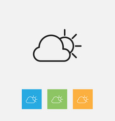Of weather symbol on sunny vector