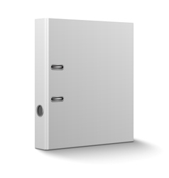 Office binder standing on white background vector image vector image